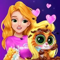 Blonde Princess Kitty Rescue Online