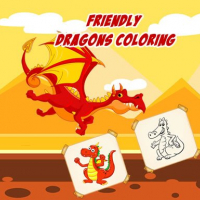 Friendly Dragons Coloring