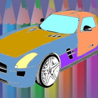 Muscle Cars Coloring